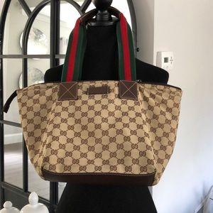 Gucci nylon medium tote bag.